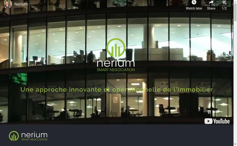Capture d'écran du site de Nerium