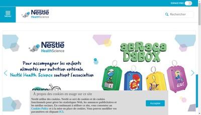 Site internet de Nestle Health Science France