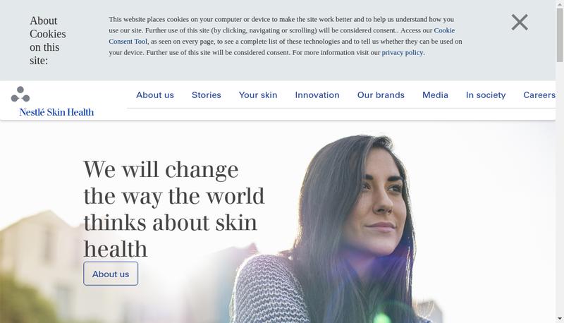 Capture d'écran du site de Laboratoires Galderma
