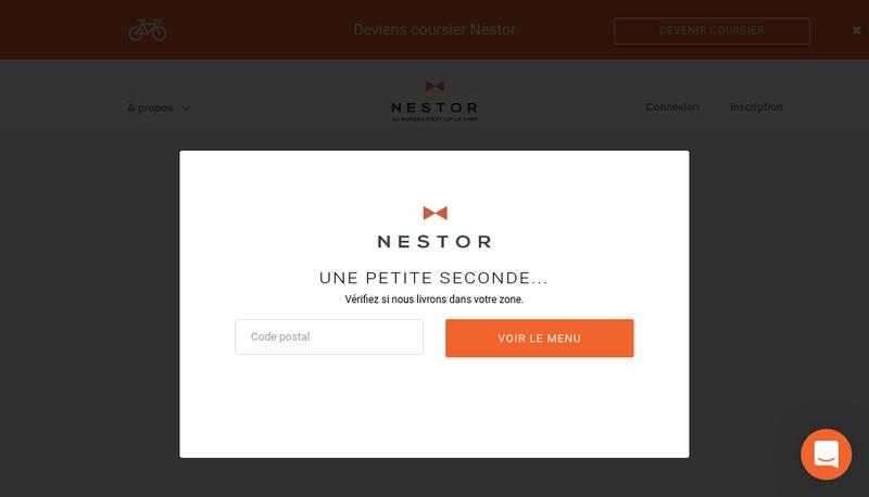 Capture d'écran du site de Nestor Paris
