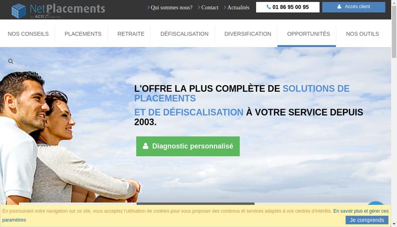 Capture d'écran du site de Actifinances - Gb Finances - B2 Consei
