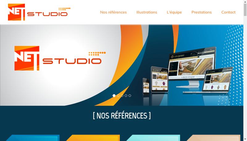 Capture d'écran du site de Net Studio