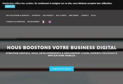 Capture d'écran du site de Netdevices