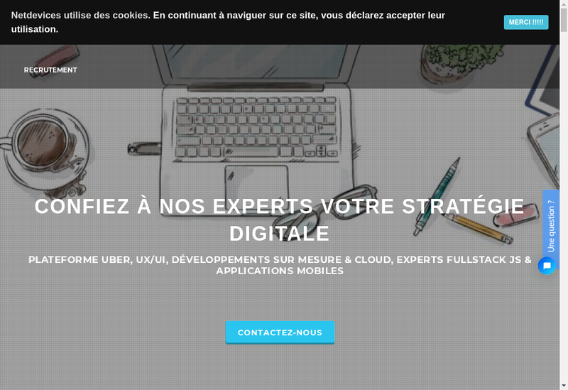 Capture d'écran du site de Netdevices