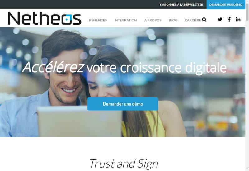 Capture d'écran du site de Netheos