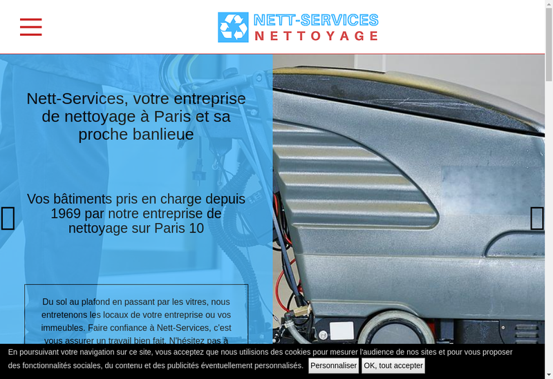 Capture d'écran du site de ANS Parquet