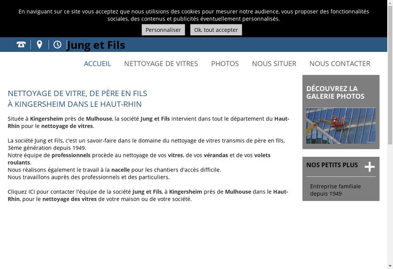 Capture d'écran du site de Entreprise Jung