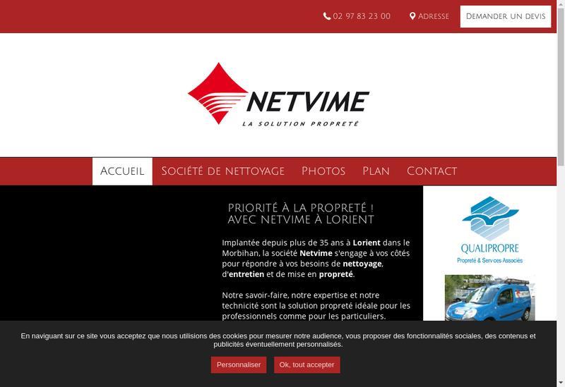 Capture d'écran du site de SAS Netvime