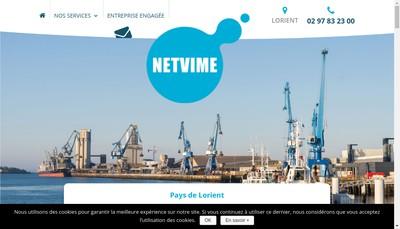 Site internet de SAS Netvime