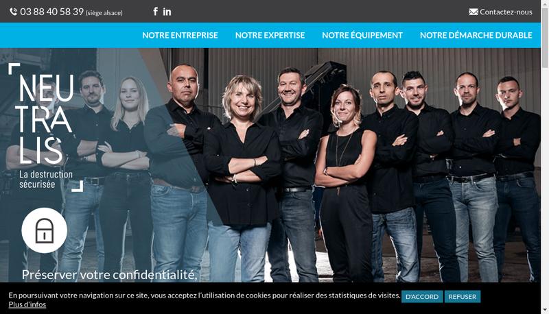 Capture d'écran du site de Neutralis