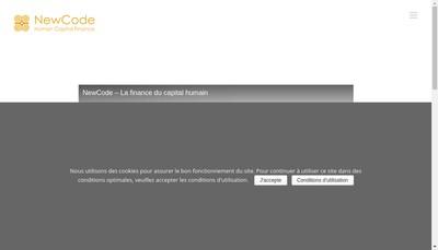 Site internet de Newcode Conseil SAS
