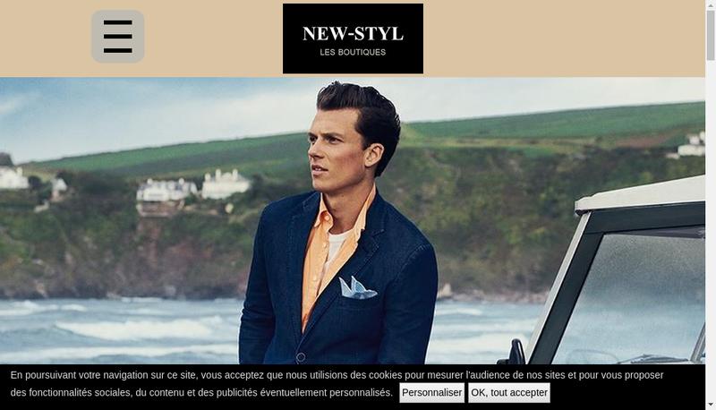 Capture d'écran du site de New Styl