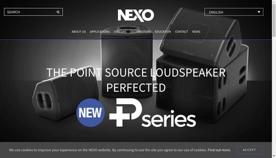 Site internet de Nexo