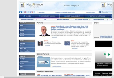Site internet de Next Finance