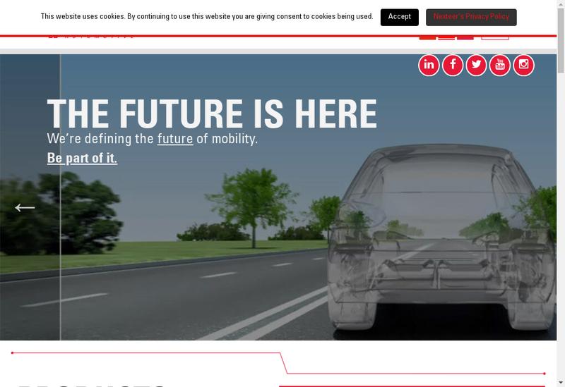 Capture d'écran du site de Nexteer Automotive France