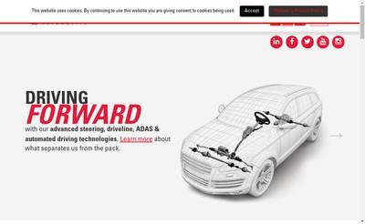 Site internet de Nexteer Automotive France