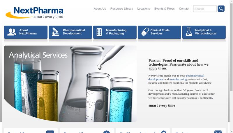 Capture d'écran du site de Nextpharma SAS