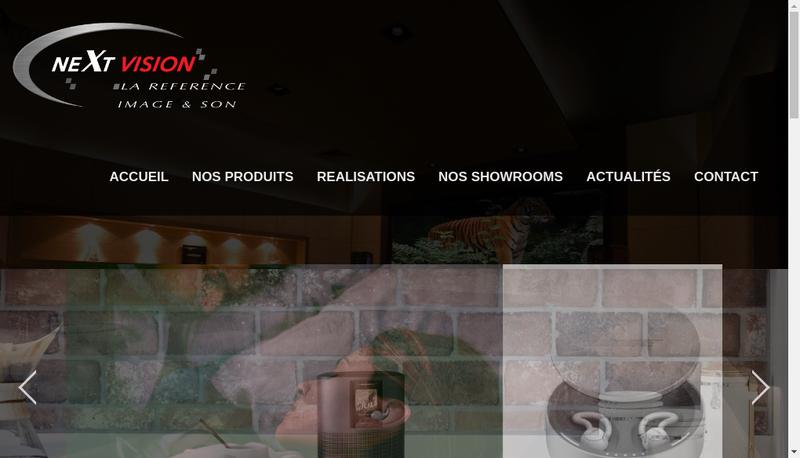 Capture d'écran du site de Next Vision
