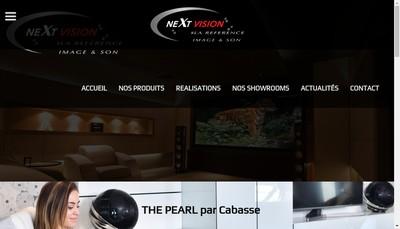 Site internet de Next Vision