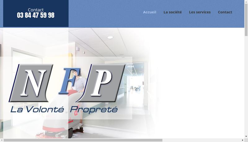 Capture d'écran du site de NFP SARL