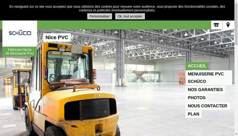Capture d'écran du site de Nice Pvc