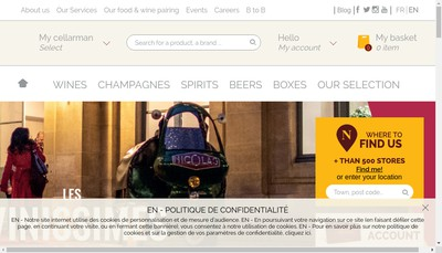 Site internet de Nicolas