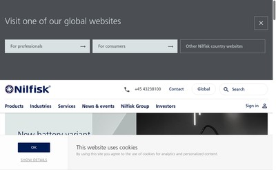 Site internet de Nilfisk