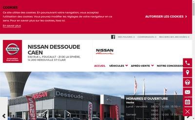 Site internet de Nissan Herouville
