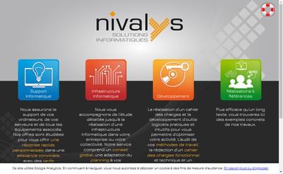 Site internet de Nivalys Solutions Informatiques