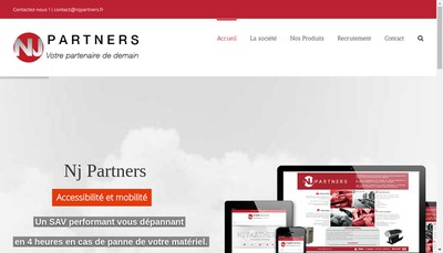 Site internet de Nj Partners