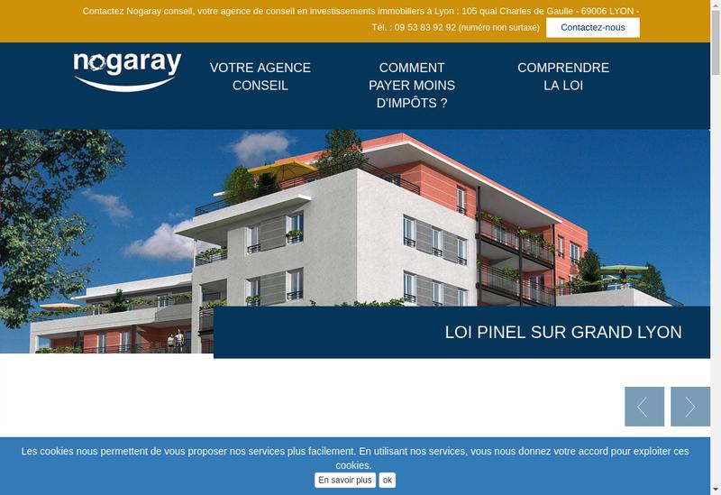 Capture d'écran du site de Nogaray Conseil