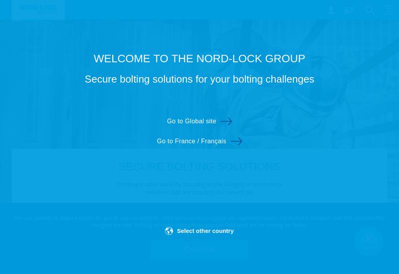 Capture d'écran du site de Nord Lock France