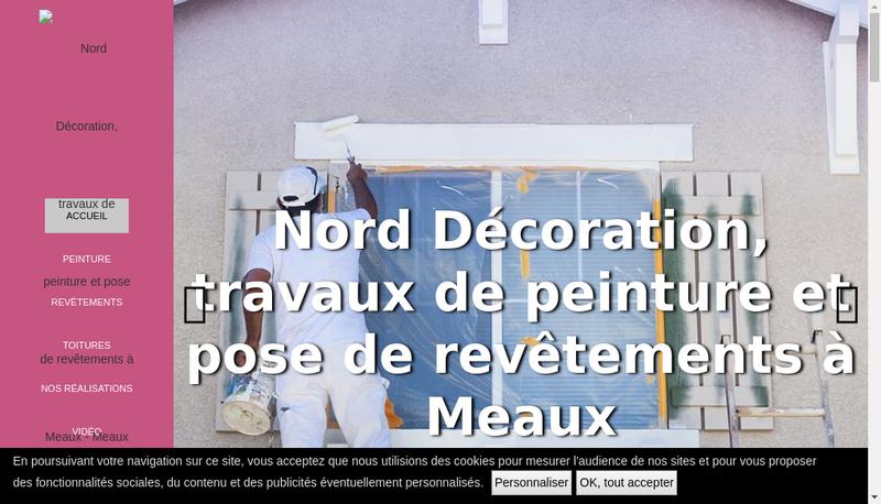 Capture d'écran du site de Nord Decoration