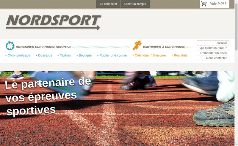 Capture d'écran du site de Nordsport