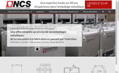 Site internet de Nordtole Conteneurs et Systemes