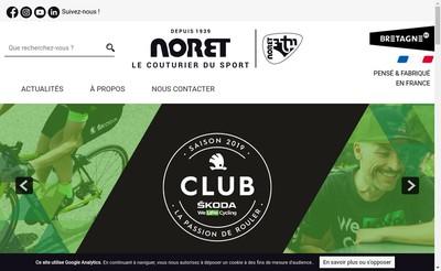 Site internet de Tricots Noret