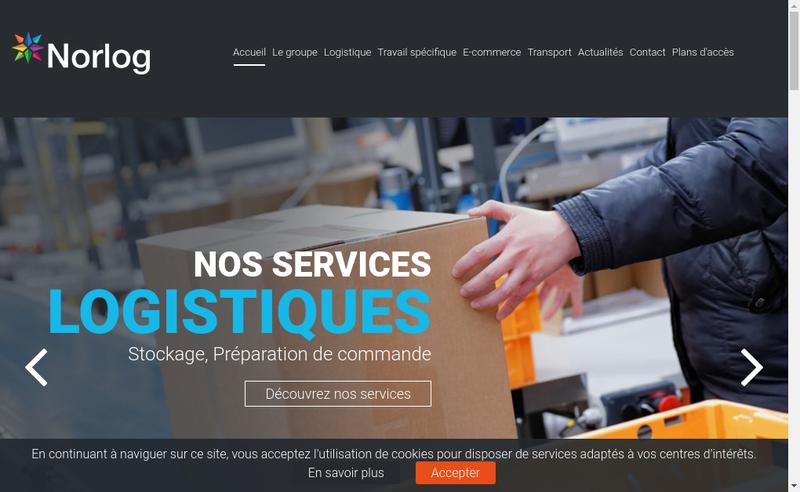 Capture d'écran du site de Groupe Norlog