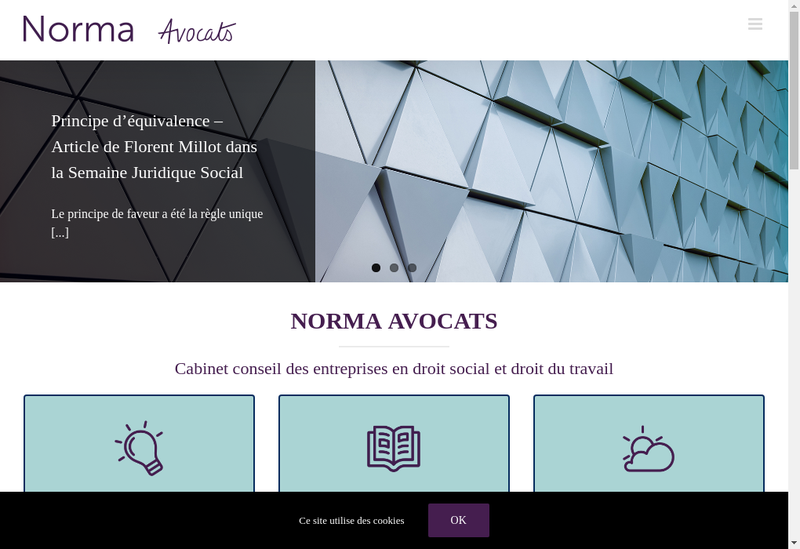 Capture d'écran du site de Norma Avocats