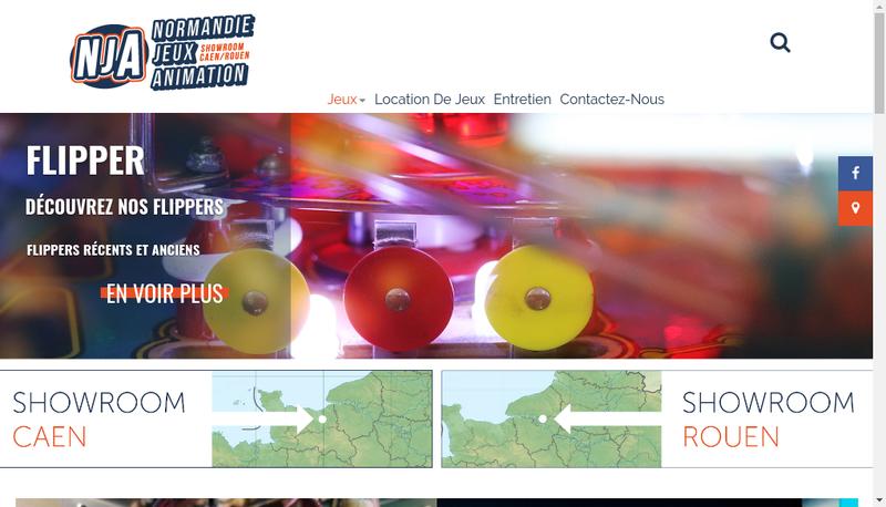 Capture d'écran du site de Normandie Jeux Animation