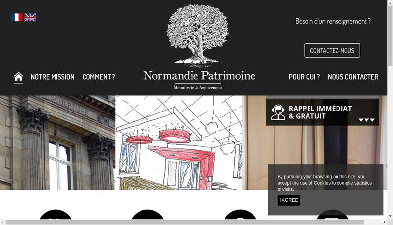 Capture d'écran du site de Normandie Patrimoine