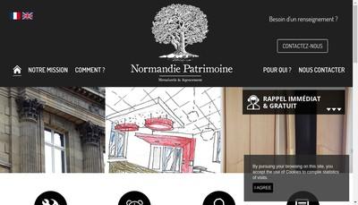 Site internet de Normandie Patrimoine