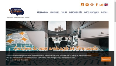 Site internet de Normandy Camper