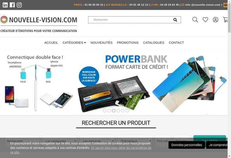 Capture d'écran du site de Nouvelle Vision