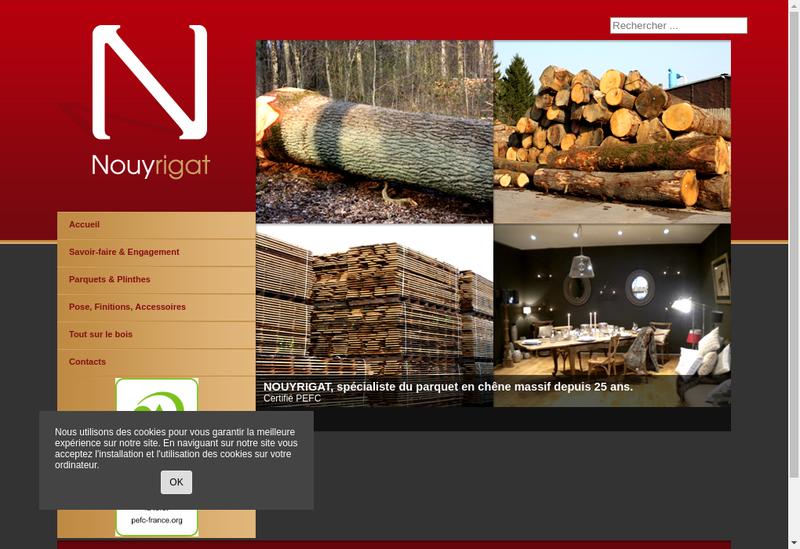 Capture d'écran du site de Nouyrigat SASU