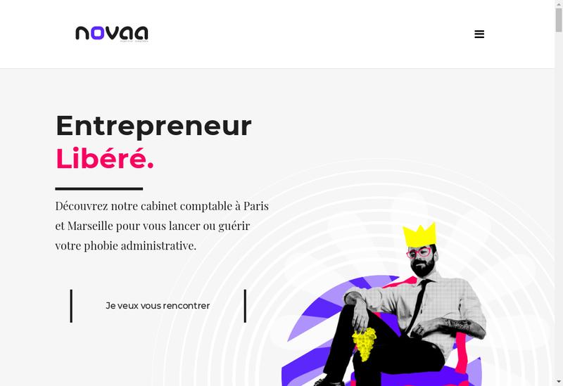 Capture d'écran du site de Novaa Expertise