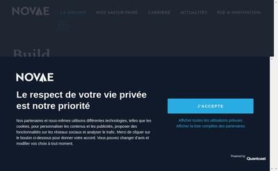 Site internet de Novae Aerospace Services