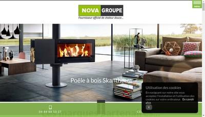 Site internet de Nova Groupe