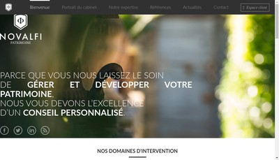 Site internet de Novalfi Conseil
