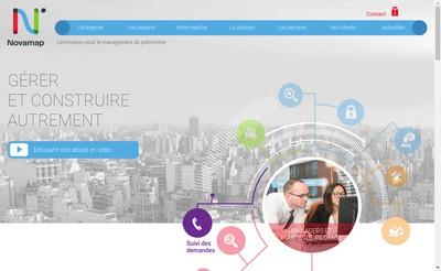 Site internet de Novamap