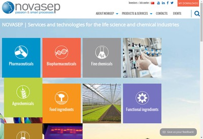 Site internet de Groupe Novasep